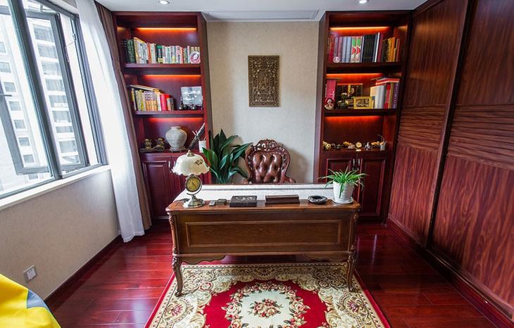 高端中欧混搭风书房 红木家具设计设计