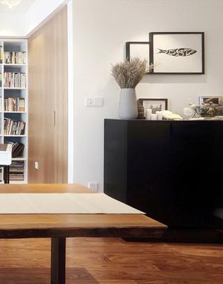 160平现代简约风格客厅收纳柜图片