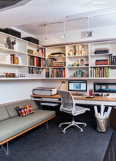 收纳型书房设计效果图