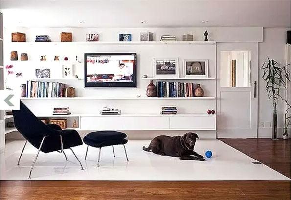 白色客厅电视柜装修图