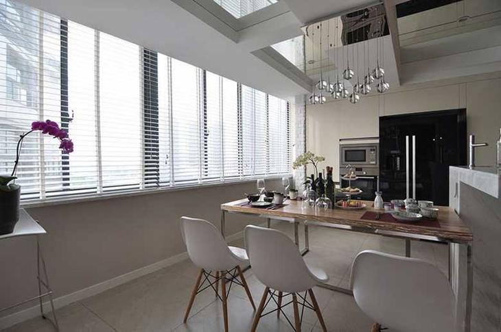 时尚简约现代风 餐厅百叶窗设计