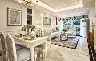 85平欧式风格两居室餐厅装修设计