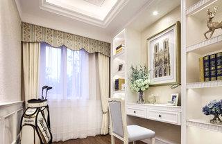 85平欧式风格两居室书房装修