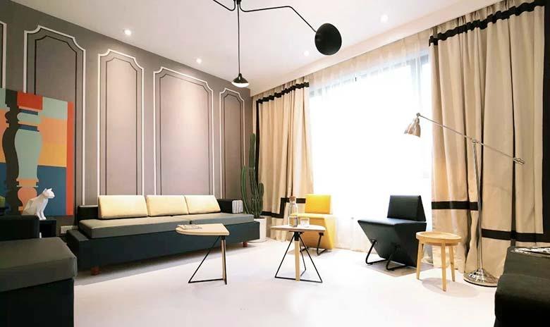 混搭客厅装修装饰效果图