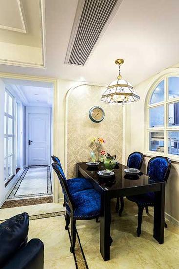 华丽简欧新古典餐厅设计