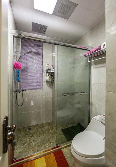 130平简欧风格装修卫生间设计