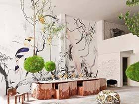 我要不一样 12款客厅手绘背景墙设计图片