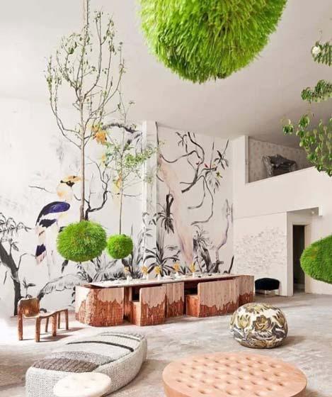 客厅手绘背景墙装修图