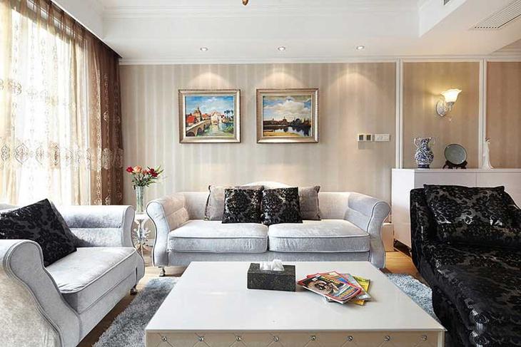 新古典风格小复式新古典客厅图