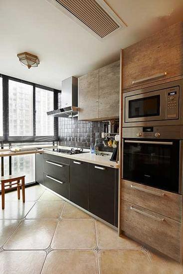 90平田园风小户型厨房设计