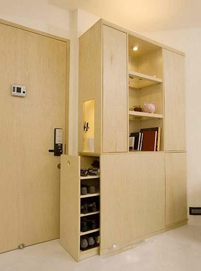 玄关柜设计布置图片