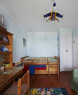 三室两厅美式乡村装修儿童房效果图