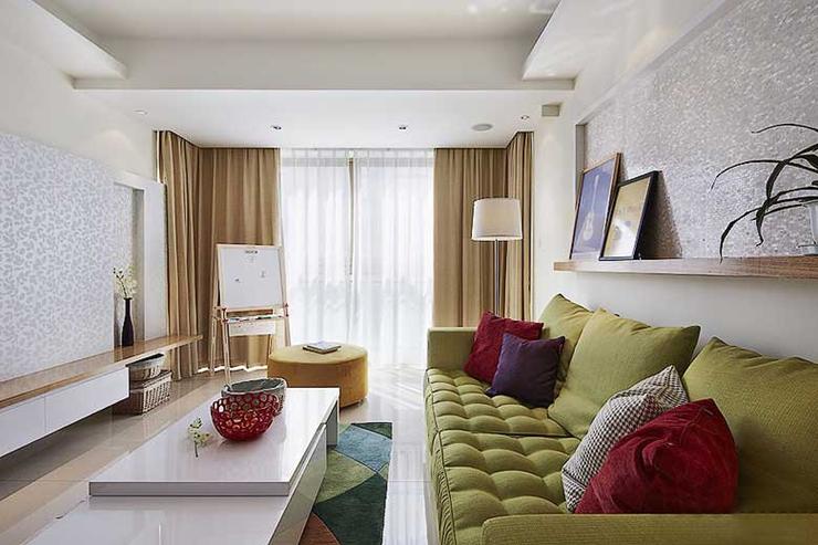 三室两厅现代装修风格客厅设计