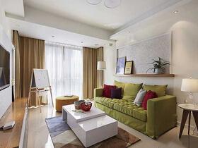 三室两厅现代装修风格  浅咖啡与绿色给你春日清新
