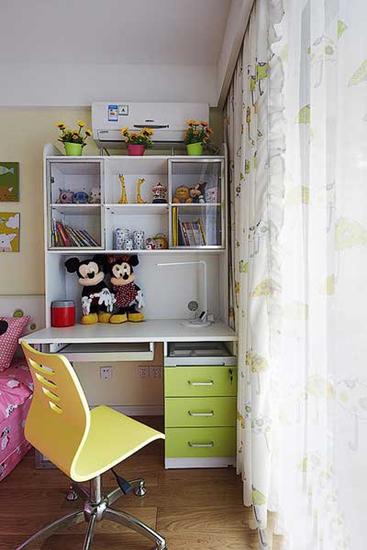 清新简约风 果绿色儿童房设计