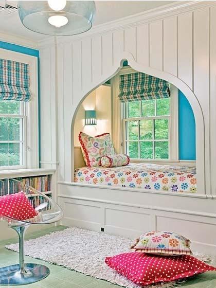 嵌入式卧室床装修装饰效果图