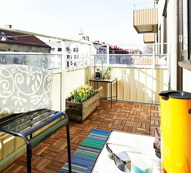 景观阳台布置摆放图