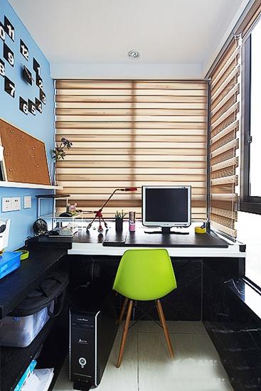90平现代简约风格装修书房设计