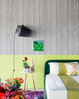 清新卧室壁纸效果图