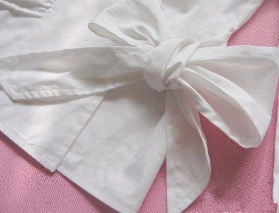 齐家百科 生活百科 日用 蝴蝶结的系法图解  1,首先将丝带或腰带交叉