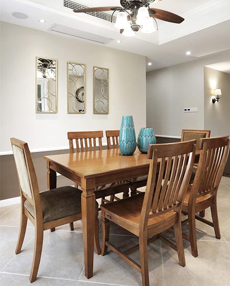 现代美式风格三居室餐厅装修装潢