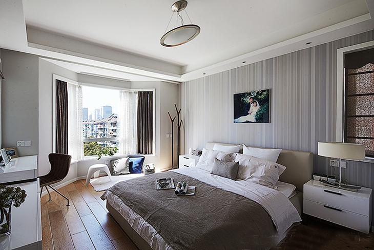 最美妙的简约风格装修温馨卧室