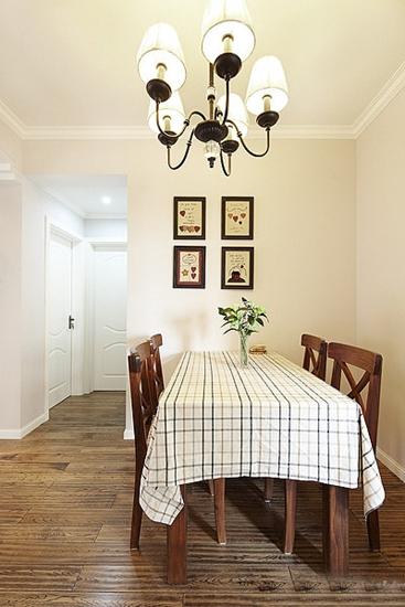 两室两厅美式风格装修餐厅设计