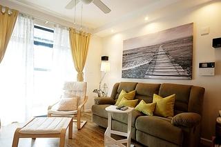120平混搭宜家风格装修客厅效果图