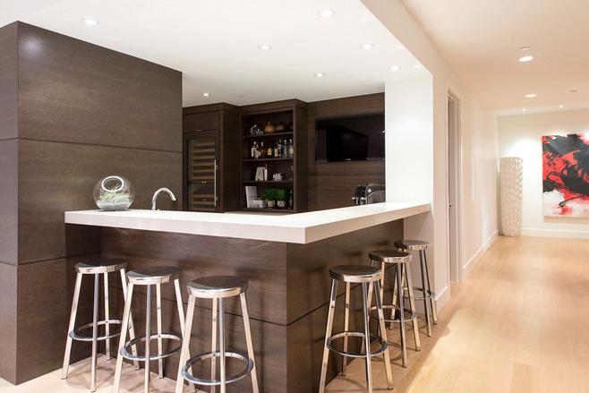现代简约风格厨房吧台图片