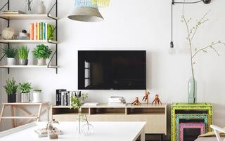60平北欧风格一居室客厅电视柜图片