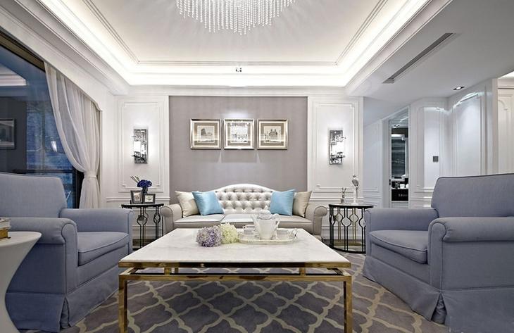 欧式四房装修效果图欧式客厅