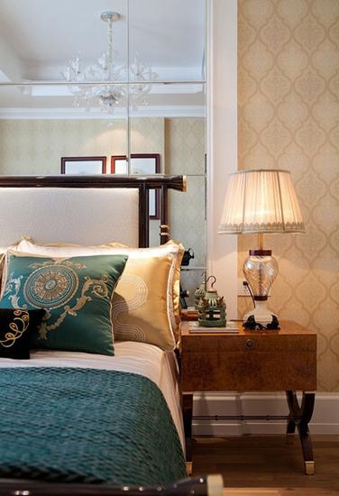 140平美式风格装修美式卧室图