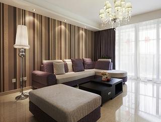 110平时尚感十足的简约风格装修客厅效果图
