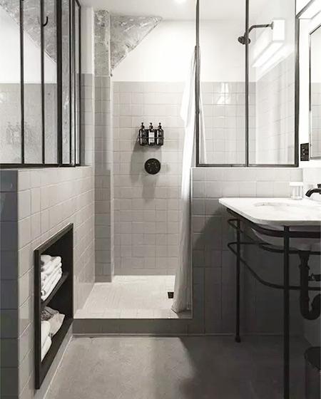 小户型卫生间嵌入式收纳效果图