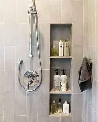 卫生间嵌入式收纳装潢设计图