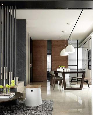 现代新中式复式餐厅吊顶设计