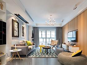 70平北欧风格两居室装修 简约不失个性