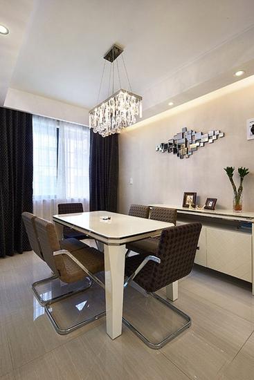 130平精致的简约风格装修餐厅设计