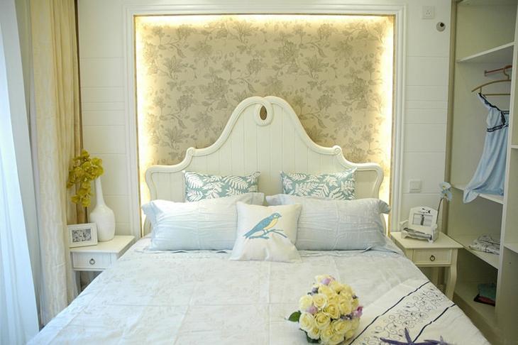 110平清新韩式装修效果图卧室设计