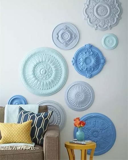 创意盘子沙发背景墙装修