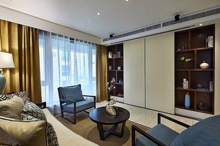 时尚新中式客厅博古架设计