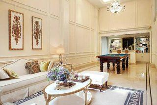 200㎡法式别墅客厅装修图
