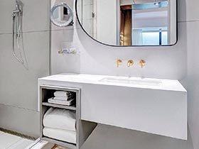 白色空间  10个现代简约卫生间装修效果图