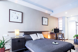 现代简中式主卧室装修设计