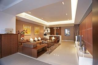 110平公寓装修客厅效果图