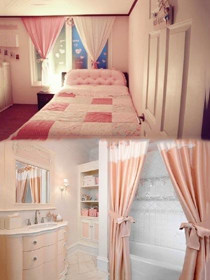 粉色女孩卧室设计装修图