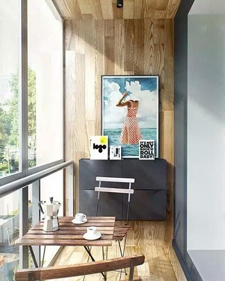 木质阳台装修效果图
