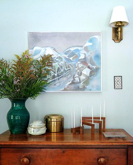 波西米亚风格小复式玄关柜图片
