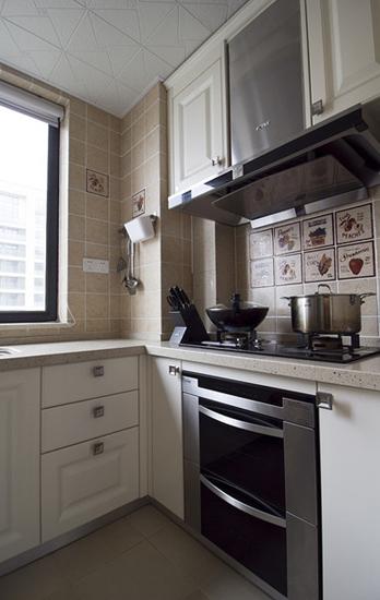 温馨乡村美式厨房橱柜效果图