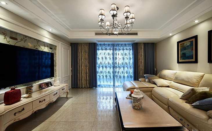 130平绝美欧式风格装修客厅效果图